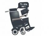 "Fauteuil de Stephen Hawking qui dit ""thank you"""