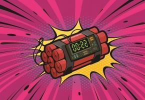 Dynamite sur le point d'exploser